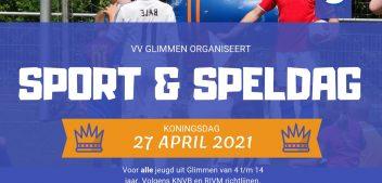 Koningsdag sport en spel 4 t/m 14 jaar
