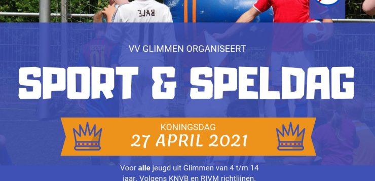 Koningsdag sport en spel 4 t/m 14 jaar vandaag opgeven