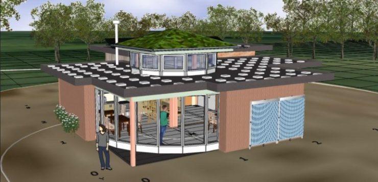 Educatief centrum in Voedselbos te Glimmen